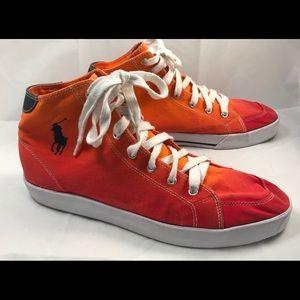 Polo Ralph Lauren Canvas High Top Sneakers Gym 12